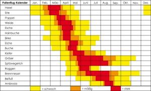 Pollenflug-Kalender
