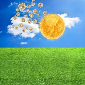 Vitamin d von der Sonne Konzeot - 3d Render